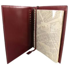 Hermes Vintage Burgundy Leather Address Book