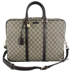 Gucci Supreme Monogam Briefcase / Laptop Messenger Bag