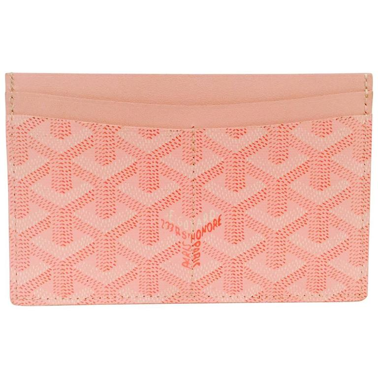 goyard pink goyardine cardholder excellent condition with box for sale - Pink Card Holder