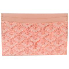 Goyard Pink Goyardine Cardholder Excellent Condition With Box
