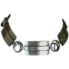 Modernist Lobel Sterling Silver Choker