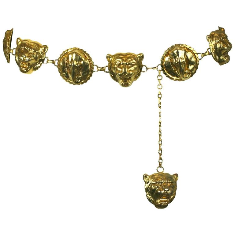 Gilt Lion and Elephant Link Belt
