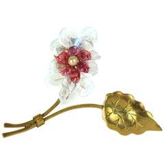 Louis Rousselet Flower Brooch