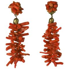Italian Branch Coral Earrings