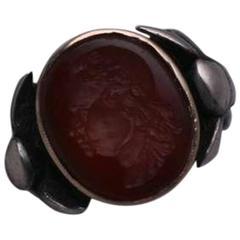 Antique Carnelian Intaglio Ring, Louis VIII