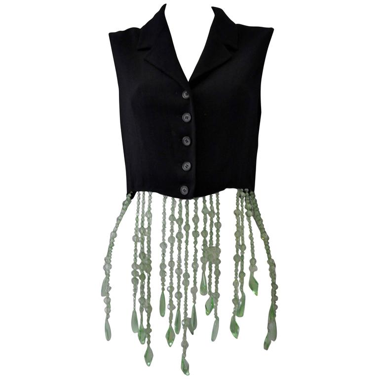 Very Unique Dolce & Gabbana for Complice Beaded Waistcoat Vest 1