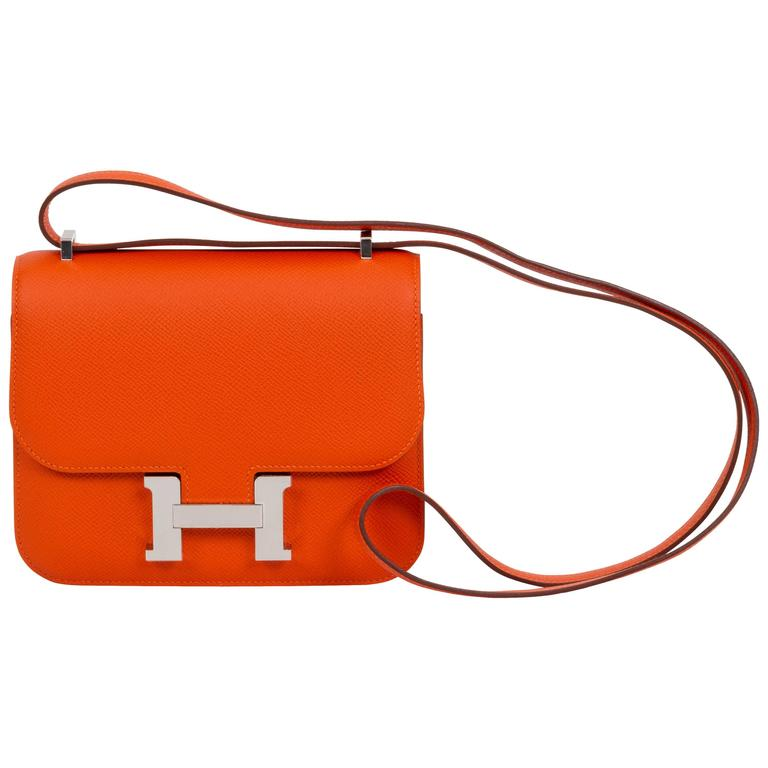 New in Box Hermès Feu Epsom Constance  For Sale