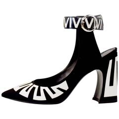 Louis Vuitton Satin and Patent Leather Ankle Fastening Heels by Ghesquiere