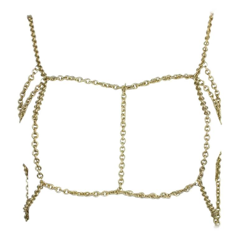 Gold-Toned Chain Body Jewelry 1