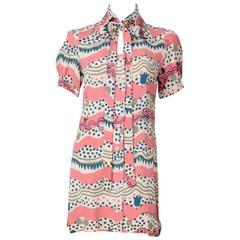 Radley Of London With Celia Birtwell Print Shirt Mini Dress