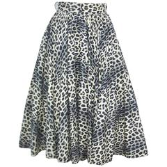Purrrfect 1950's Leopard Print Circle Skirt