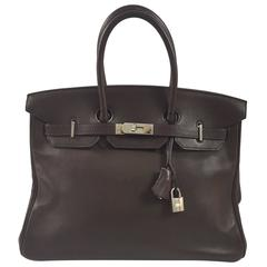 Birkin 35 chocolate color