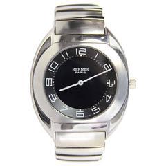Hermes Men's 34mm Espace Stainless Steel Watch rt. $3,150