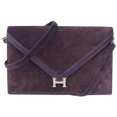 Hermes Lydie Clutch Bag 2 ways Brown Doblis Gold Hdw