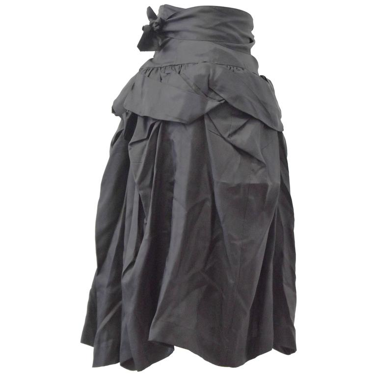 Comme des Garcons 'Tao' Black Ruffle skirt with tie-waist 2009 1