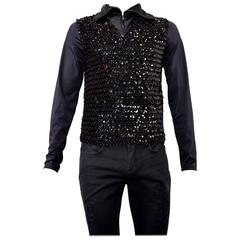 1980s Jean-Paul Gaultier - Junior Mens Glam Rock style stretch sequin & spandex