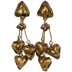 Signed Vintage Ignacio Toledo Statement Clip Earrings