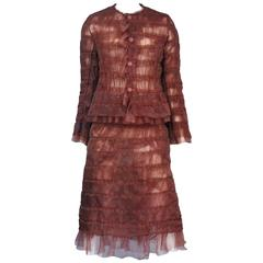 Junya Copper Ruffle Suit 2000