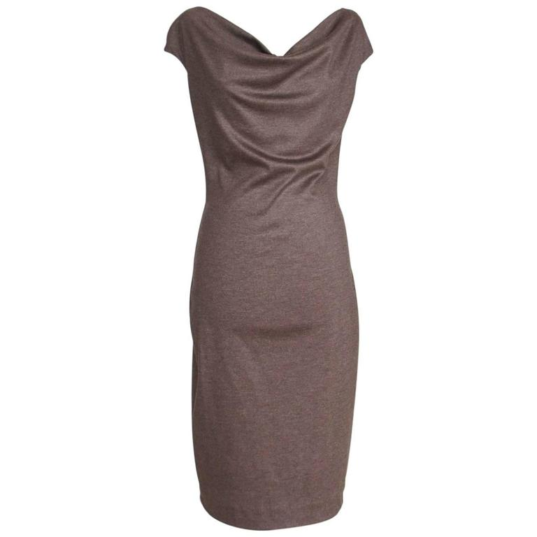 DSquared 2 Dress Heather Brown Sheath  Style L Superbly Soft Fabric