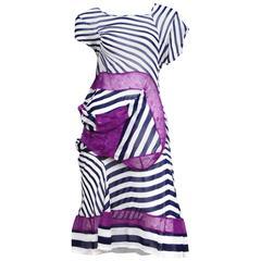 Junya Navy Stripe Purple Lace Dress 2011