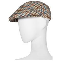 Hermes tweed flat cap, circa 1970s
