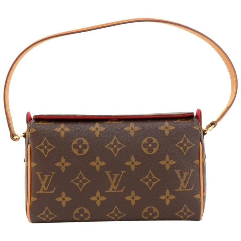Louis Vuitton Recital Monogram Canvas Shoulder Hand Bag 1