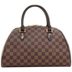 Louis Vuitton Ribera MM Ebene Damier Canvas Hand Bag