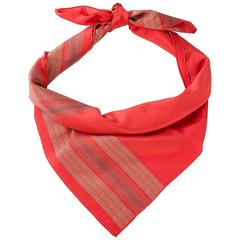 Striped red Fendi printed scarf
