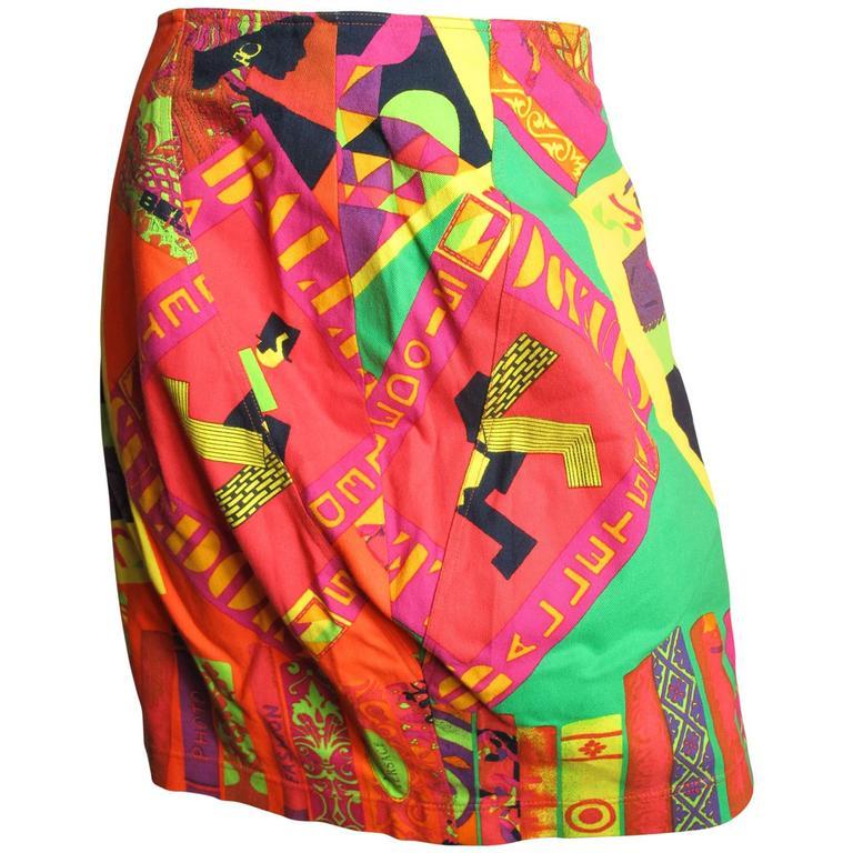Istante Versace Hockney Skirt For Sale