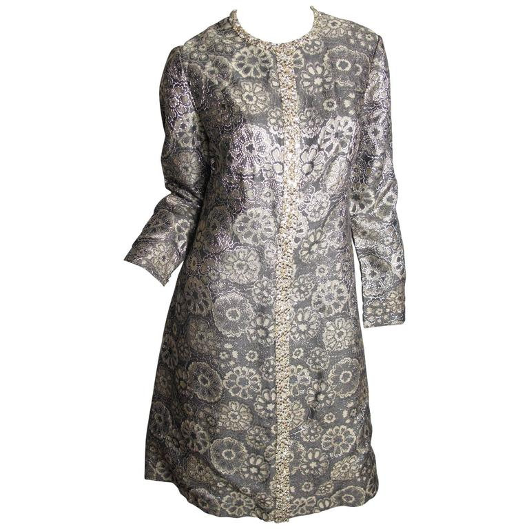 Adele Simpson Brocade and Rhinestone Dress 1