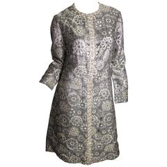 Adele Simpson Brocade and Rhinestone Dress