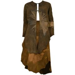 Sant Angelo Brown Suede Fossil Ensemble
