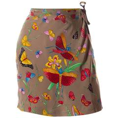 Gianni Versace Butterfly Wrap Skirt