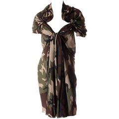 Junya Watanabe Comme Des Garcons 2010 Camouflage Print Dress