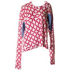 Vivienne Westwood World's End Iconic Squiggle Print Top