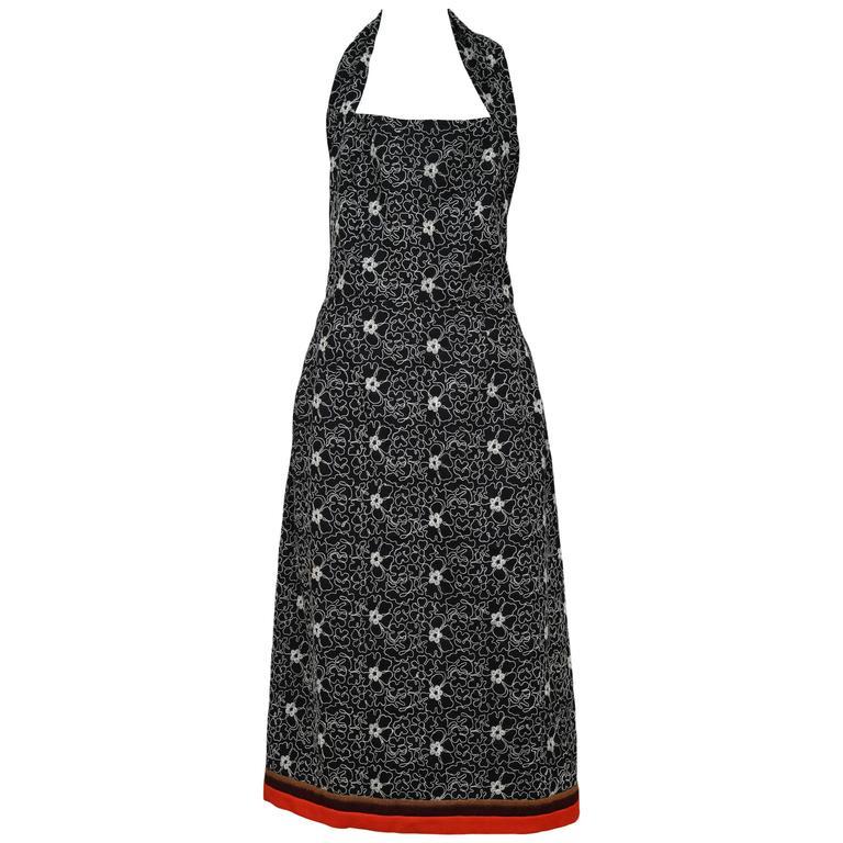 Comme des Garcons Embroidered Halter Dress For Sale