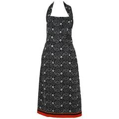 Comme des Garcons Embroidered Halter Dress