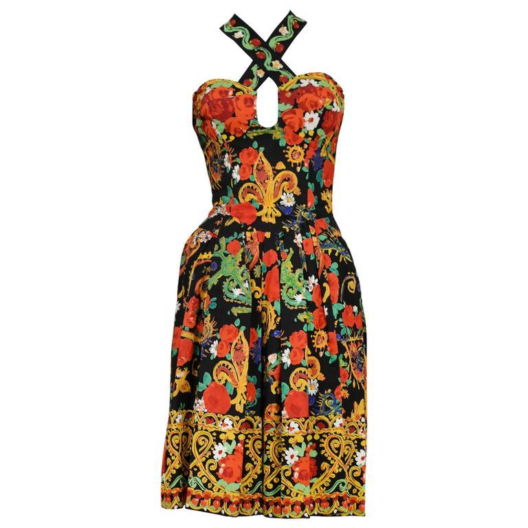 Christian Lacroix Floral Criss Cross Dress 1