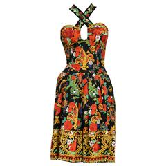 Christian Lacroix Floral Criss Cross Dress