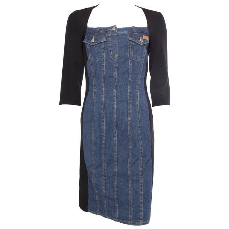 Moschino Bodycon Denim Dress