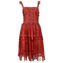 Chloe Burgundy Lace Ribbon Dress