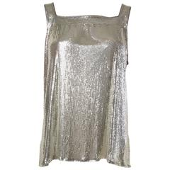 Whiting & Davis Silver Metal Mesh Tank