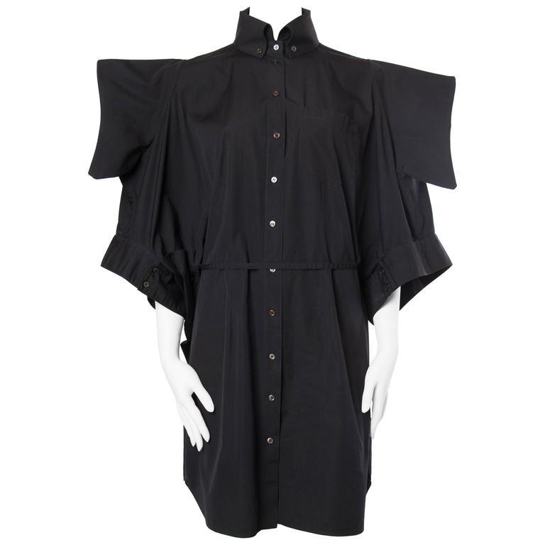 Alexander McQueen Kimono Sleeve Cocoon Shirt Dress
