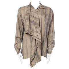 Issey Miyake Draped Silk Blouse