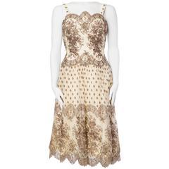 Pamela of Paris 1950s Chantilly Lace Dress