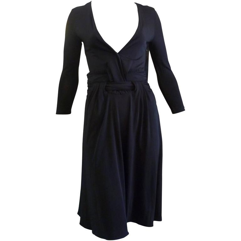 Just Cavalli Sexy Black Viscose Dress W/T (38 Itl)