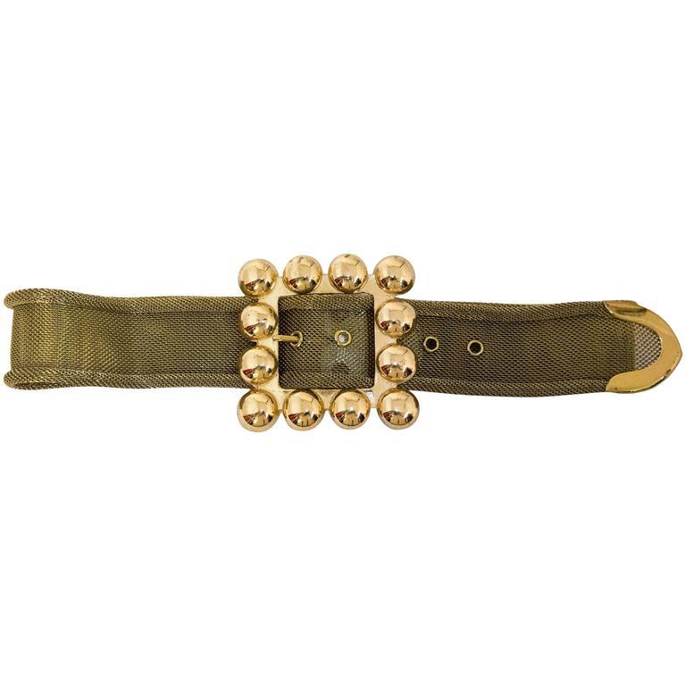 80s Gold Metal Mesh Belt