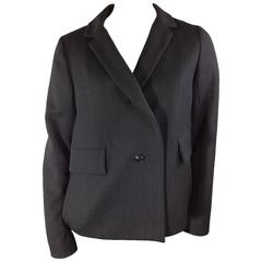 Chloe Charcoal Grey Wool Swing Jacket
