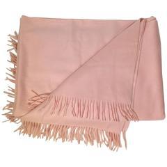 Hermes Baby Pink Cashmere Blanket
