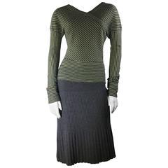 Missoni Lime Green and Grey Skirt and Shirt Set